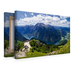 Premium Textil-Leinwand 45 cm x 30 cm quer Der Königssee im Berc