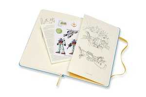 Moleskine Notizbuch - Gundam, Large, A5, Liniert, Hard Cover, Bl