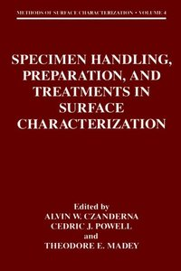 Specimen Handling, Preparation, and Treatments in Surface Charac