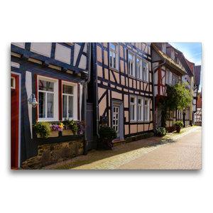 Premium Textil-Leinwand 75 cm x 50 cm quer Kirchgasse