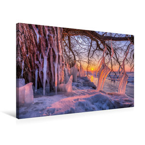 Premium Textil-Leinwand 75 cm x 50 cm quer Eiszapfen am Südufer