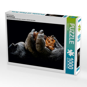 Ein Motiv aus dem Kalender Gorillahände 1000 Teile Puzzle quer