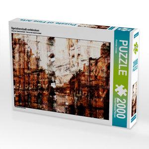 Speicherstadt entdecken 2000 Teile Puzzle quer