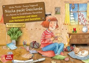 Nischa packt Geschenke