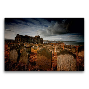 Premium Textil-Leinwand 75 cm x 50 cm quer Gothic Fantasy - Frie