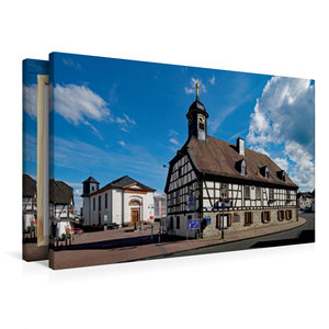 Premium Textil-Leinwand 90 cm x 60 cm quer Altes Rathaus Kelkhei