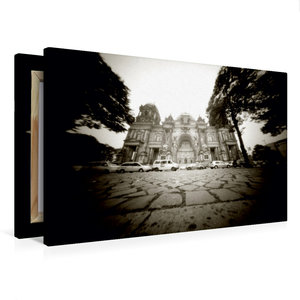 Premium Textil-Leinwand 75 cm x 50 cm quer Berliner Dom