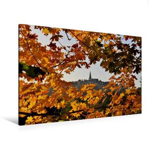 Premium Textil-Leinwand 120 cm x 80 cm quer Herbststimmung