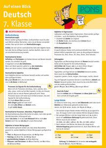 PONS Auf einen Blick: Deutsch