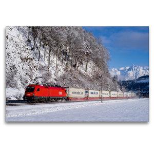 Premium Textil-Leinwand 120 cm x 80 cm quer EKOL-KLV im Schnee