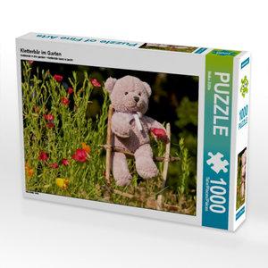 Kletterbär im Garten 1000 Teile Puzzle quer
