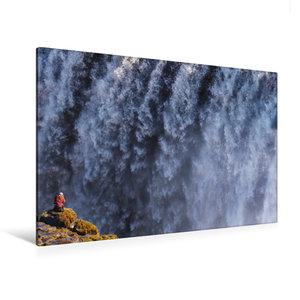 Premium Textil-Leinwand 120 cm x 80 cm quer Fotograf am Dettifos