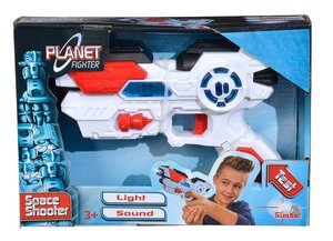 Simba 108042205 - Planet Fighter Space Shooter Laserpistole, mit