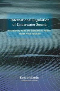 International Regulation of Underwater Sound