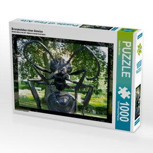 Bronzestatue einer Ameise 1000 Teile Puzzle quer