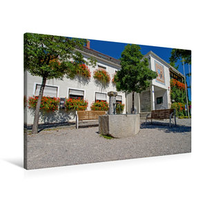 Premium Textil-Leinwand 90 cm x 60 cm quer Rathaus Kirchheim bei