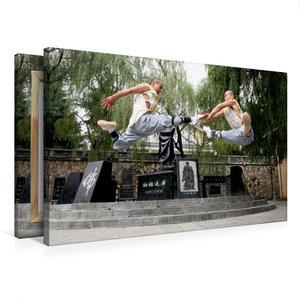 Premium Textil-Leinwand 75 cm x 50 cm quer Shaolin Kung Fu