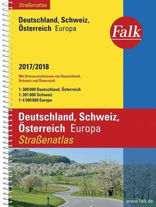 Falk Straßenatlas Deutschland, Österreich, Schweiz, Europa 2016/