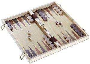Philos 2509 - Schach-Backgammon-Dame-Set, Feld 40 mm