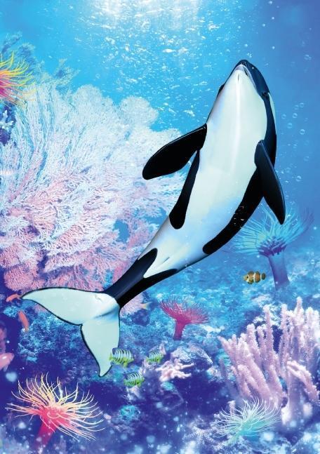 Fantasievolle Meerestierbilder (Tischaufsteller DIN A5 hoch) - zum Schließen ins Bild klicken