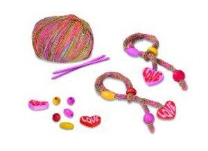 KreaStrick 2 Freundschaftsbändchen, pink