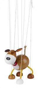 Goki 51755 - Marionette Hund aus Holz