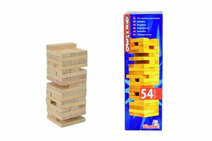 Simba 106125033 - Games and More: Holz-Wackelturm