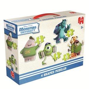 Disney Pixar - Monsters University - 4 in 1 Konturen-Puzzle