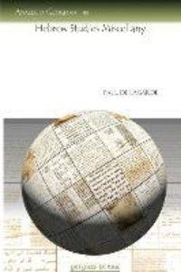 Hebrew Studies Miscellany