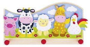 Goki 608480 - Garderobe, Tiere auf dem Bauernhof