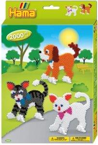 Hama 3433 - Perlenset Hund und Katze, ca. 2000 Bügelperlen, 2 St