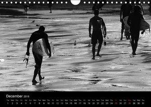 Surf in B&W (Wall Calendar 2015 DIN A4 Landscape)