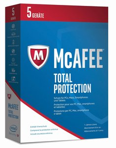 McAfee 2017 Total Protection 5 Device (Code in a Box). Für Windo