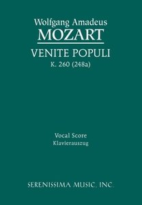 Venite Populi, K. 260 (248a) - Vocal Score