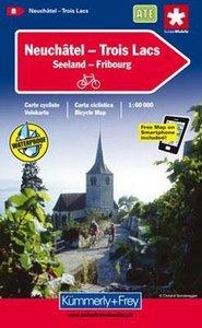 KuF Schweiz Radkarte 08 Neuenburg - Drei Seen 1 : 60 000