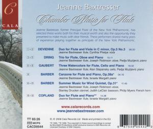 Chamber Music For Flute - zum Schließen ins Bild klicken
