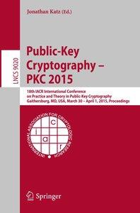 Public-Key Cryptography -- PKC 2015