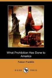 What Prohibition Has Done to America (Dodo Press)