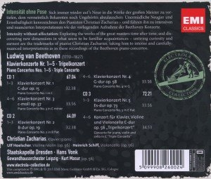 Zacharias/Hoelscher/Schiff/Vonk: Klavierkonzerte 1-5