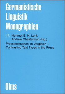 Pressetextsorten im Vergleich - Contrasting Text Types in the Pr