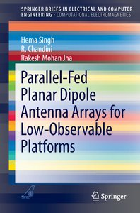 Parallel-Fed Planar Dipole Antenna Arrays for Low-Observable Pla