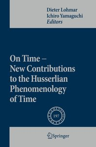On Time - New Contributions to the Husserlian Phenomenology of T