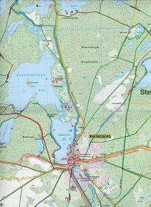 Rheinsberger Seengebiet 1 : 25 000