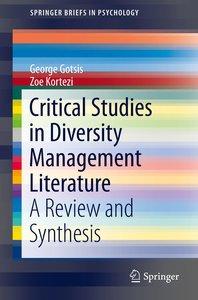 Critical Studies in Diversity Management Literature