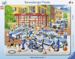 Großer Polizeieinsatz. Rahmenpuzzle 35 Teile