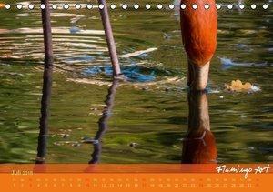 Flamingo Art 2016 (Tischkalender 2016 DIN A5 quer)