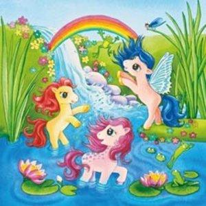 Ponys im Märchenland. Puzzle 3 X 49 Teile