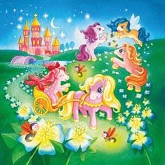 Ponys im Märchenland. Puzzle 3 X 49 Teile - zum Schließen ins Bild klicken