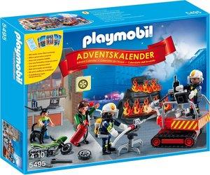 PLAYMOBIL 5495 - Adventskalender Feuerwehreinsatz mit Kartenspie