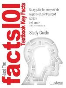 Studyguide for Intermediate Algebra-Student Support Edition by L